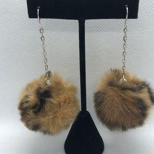 FUZZY Pom Pom Earrings